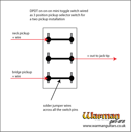 Wiring a 3 way on-on-on mini toggle switch to act as a 3 ...