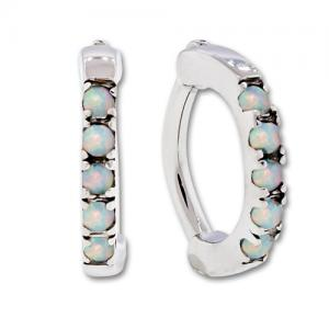 ROOK CLICKER 316L STEEL 16G 516 CURVED WITH 5 ROUND WHITE SYNTHETIC OPALS RC5GSOWH_1