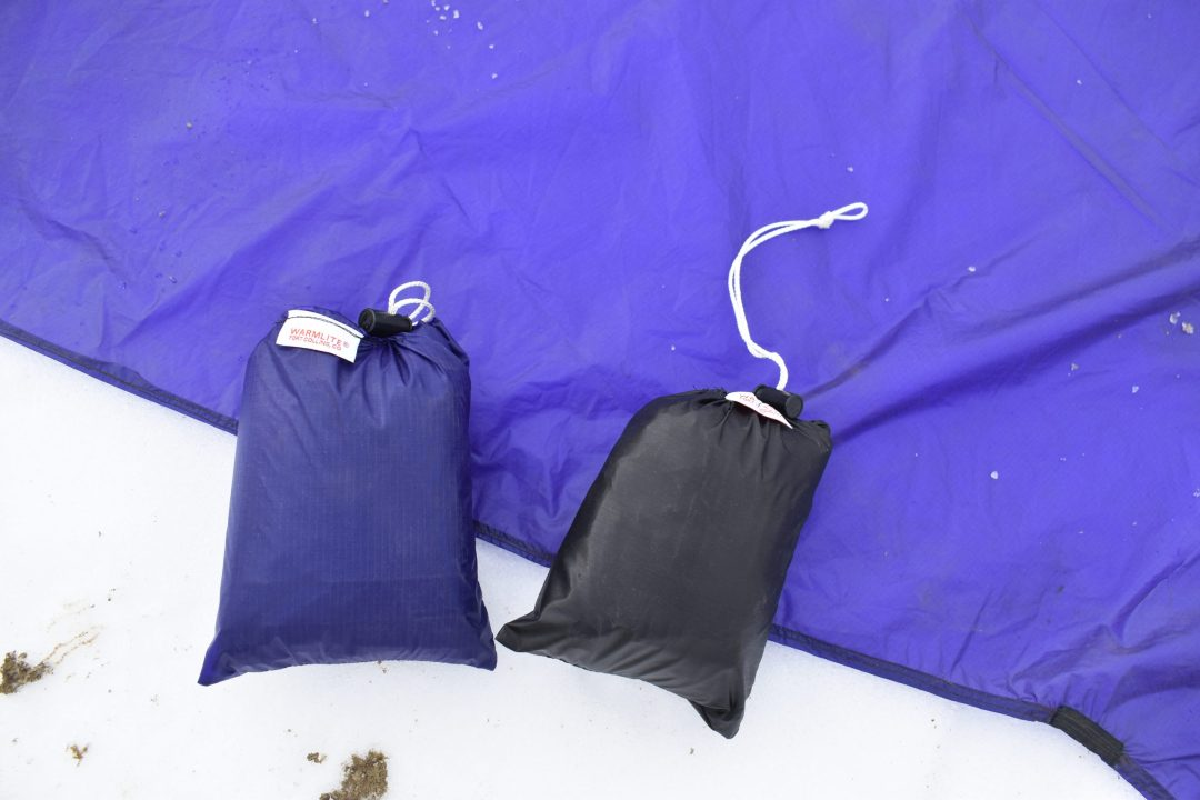 footprint sack close up