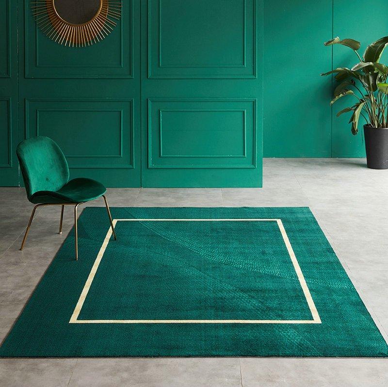 Modern Interior Area Design Green Rugs for Living Room