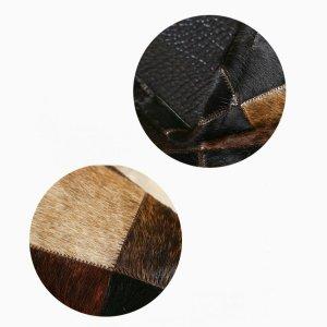 Luxury Manual Leather Splice Rugs