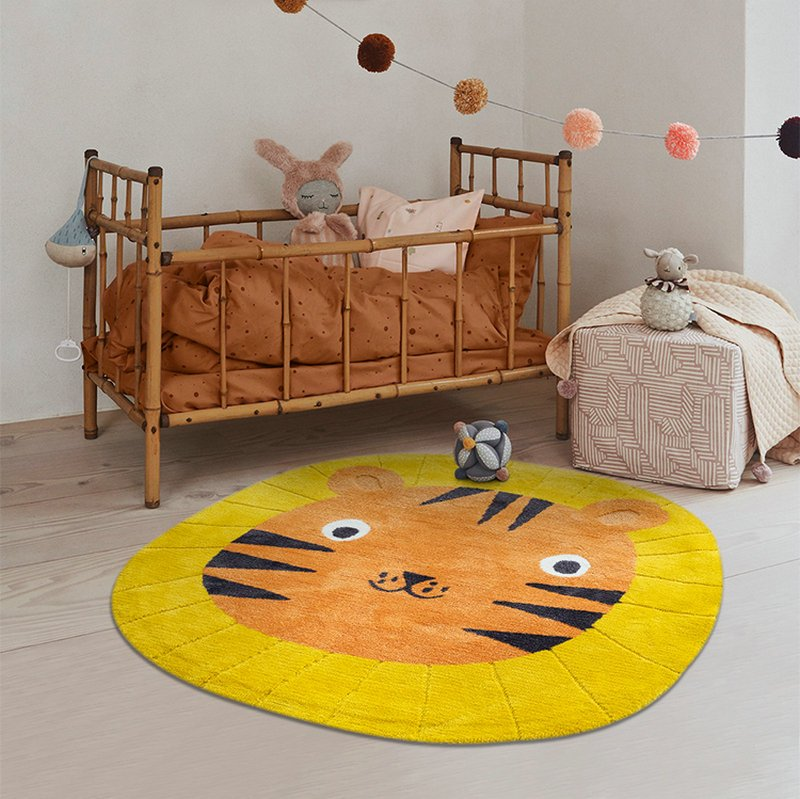 Safe Soft Material Lovely Kids Round Rugs