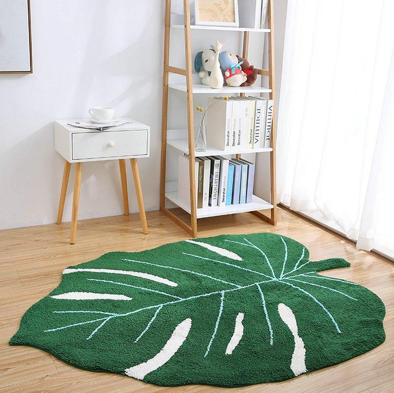 New Design Green Leaf Rugs