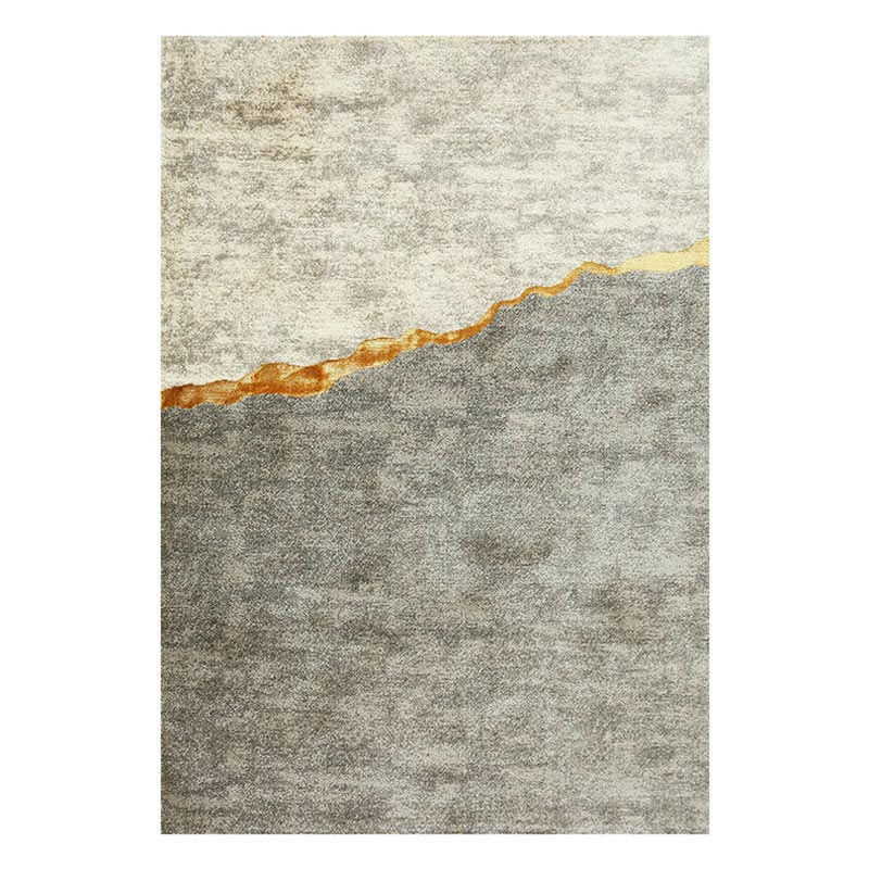 Modern Simple Metallic Luxury Golden Line Rugs