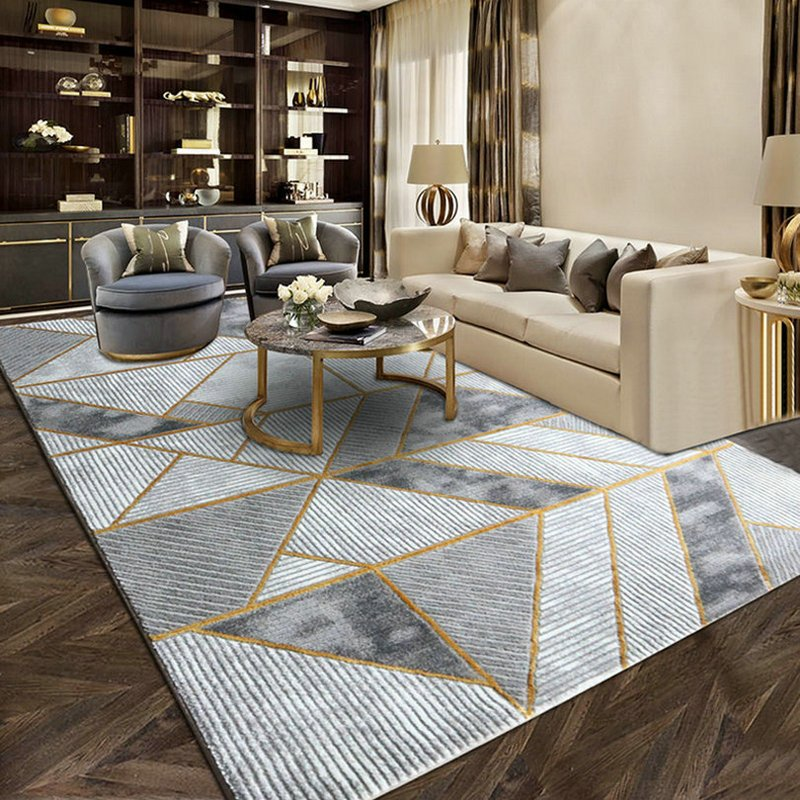 Geometric Design Art Deco Rug Warmly Home