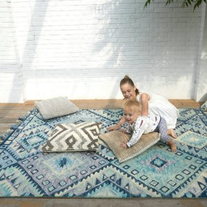 Hand Tufted Wool Tropical Theme Rugs