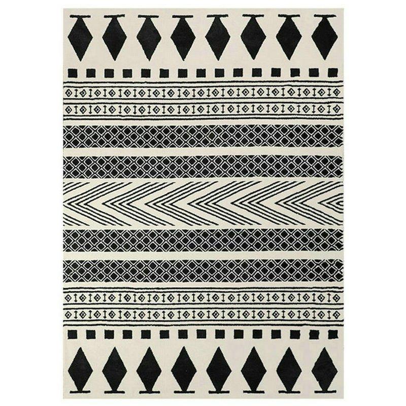 Modern Pattern White Black Moroccan Rugs