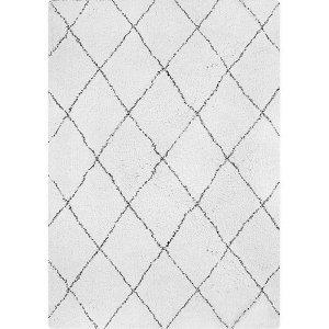 White Black Modern Rug
