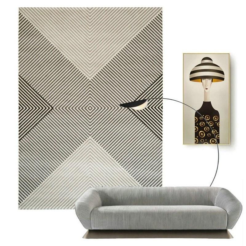 Geometric Symmetry Rugs for Living Room