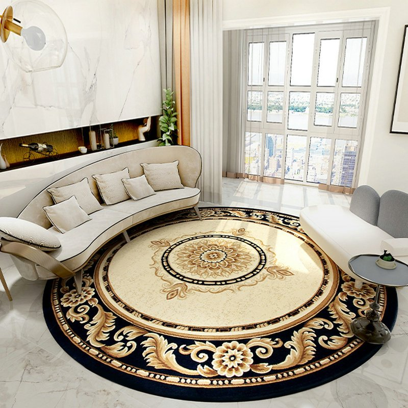 large round rugs