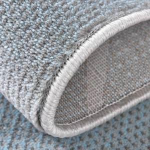 Grey Blue Geometric Rug