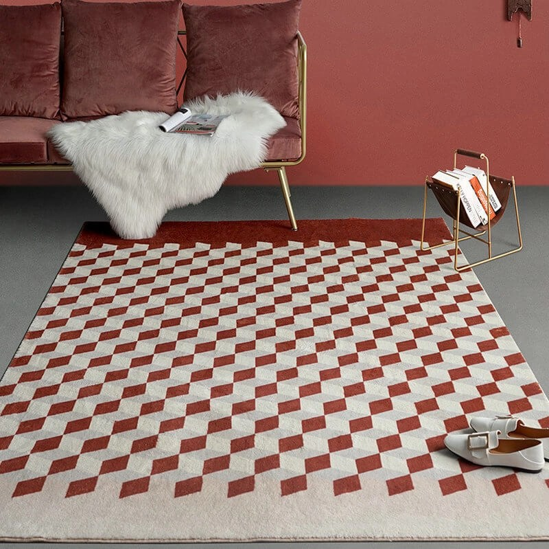 Red Cubic Rug