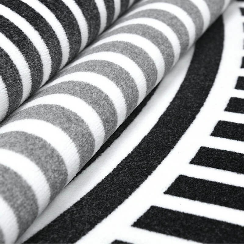 Modern White And Black Rug
