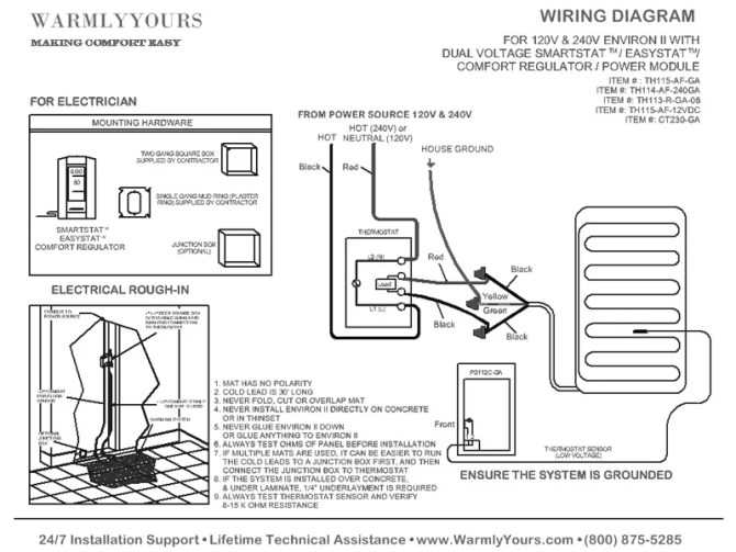 schema underfloor heating mat wiring diagram full hd
