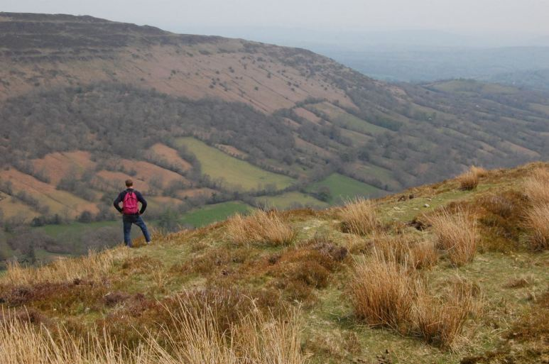 Down into Olchon Valley from Offa's Dyke Path