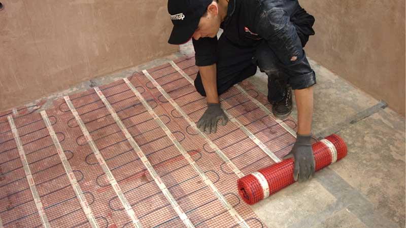 underfloor heating for tiles under