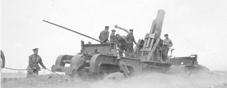Naval 12 inch howitzer in action