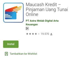 Aplikasi Pinjaman Maucash