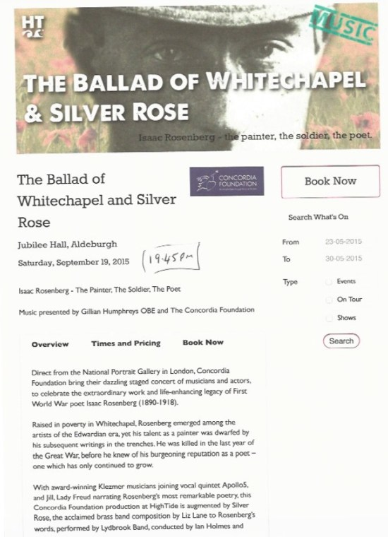 The Ballard of Whitechapel and Silver Road