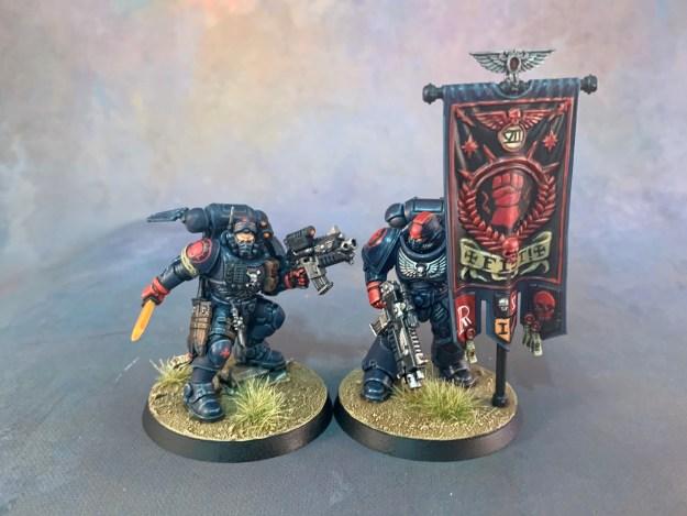 Crimson Fists Primaris Ancient & Phobos Lieutenant