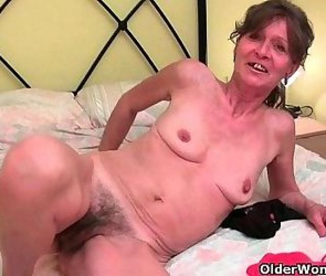 Hairy Granny Gets Her Saggy Tits