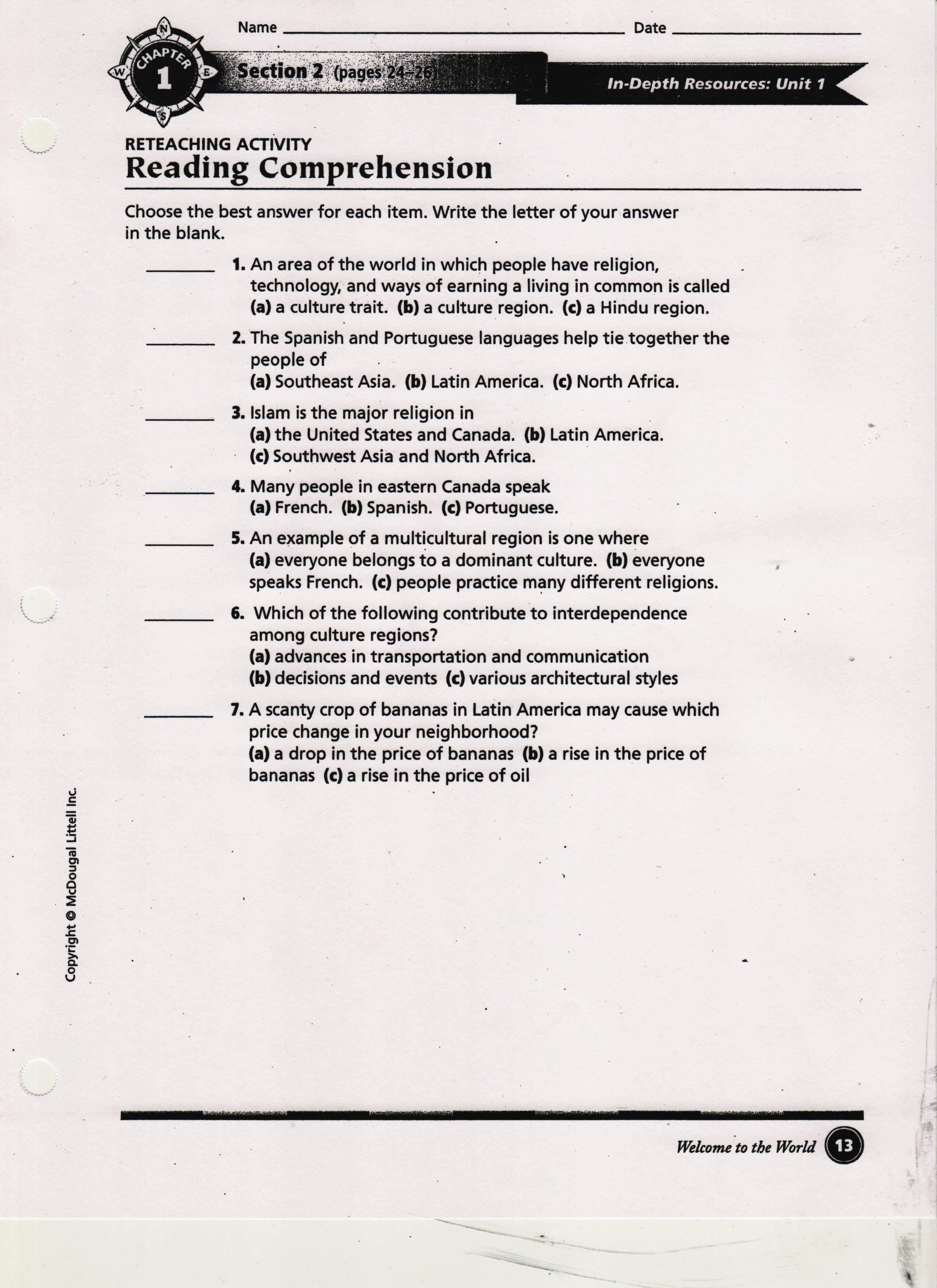 Kavcak Kimberly 1st Marking Period Class Worksheets