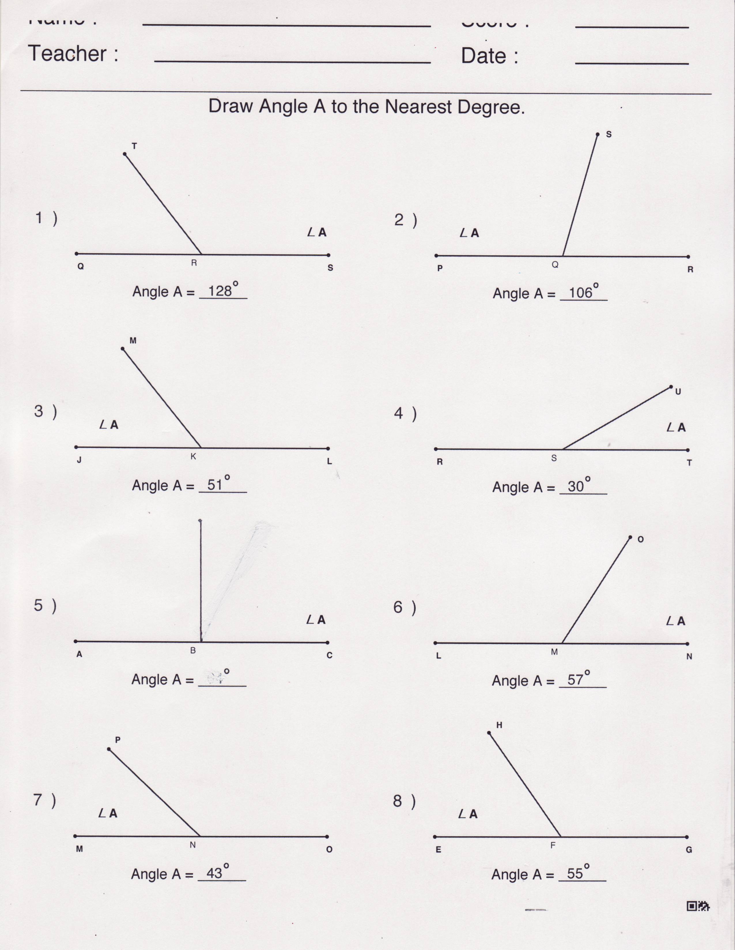 Measuring Triangles Angles Worksheet Pictures To Pin
