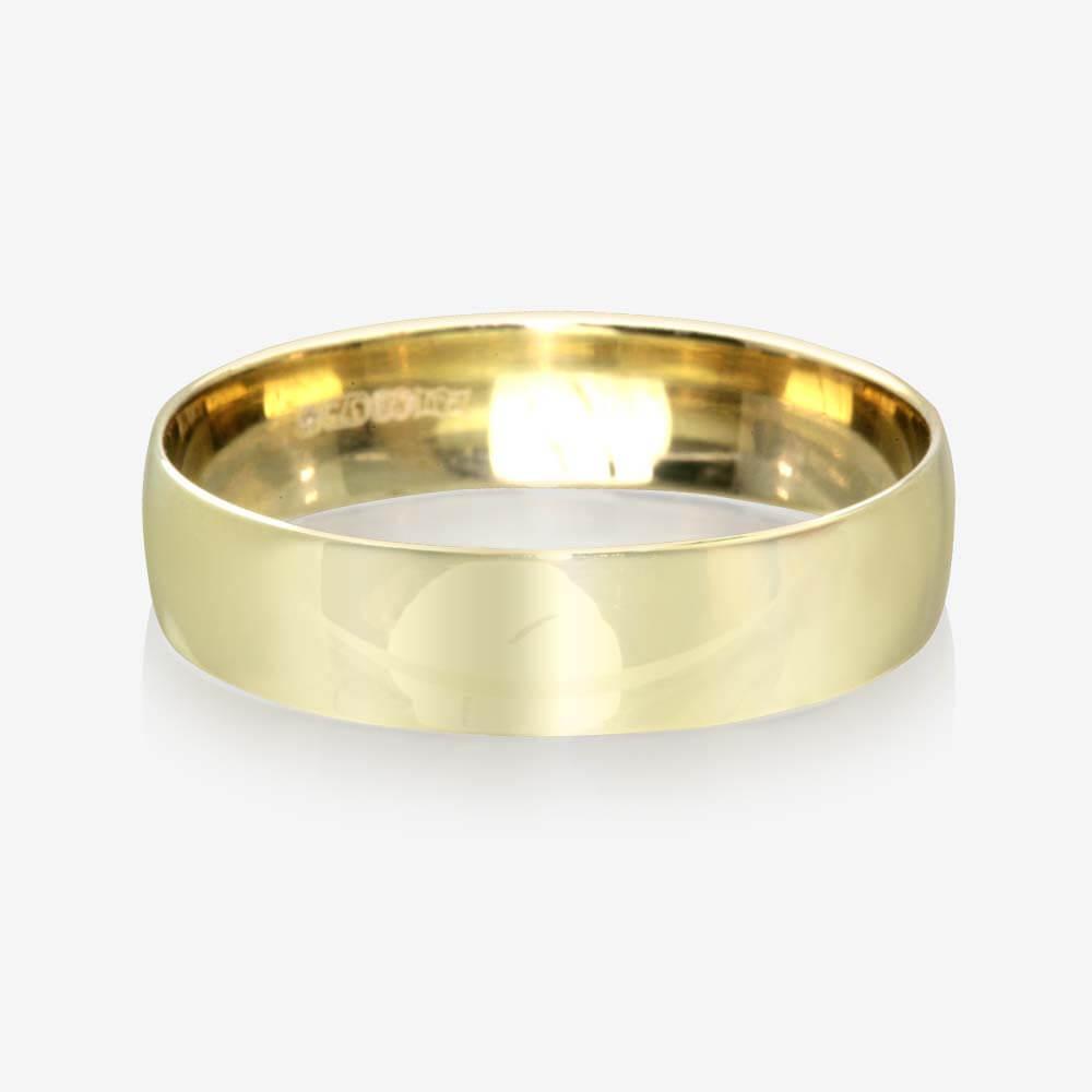 9ct Gold Mens Wedding Ring 55mm