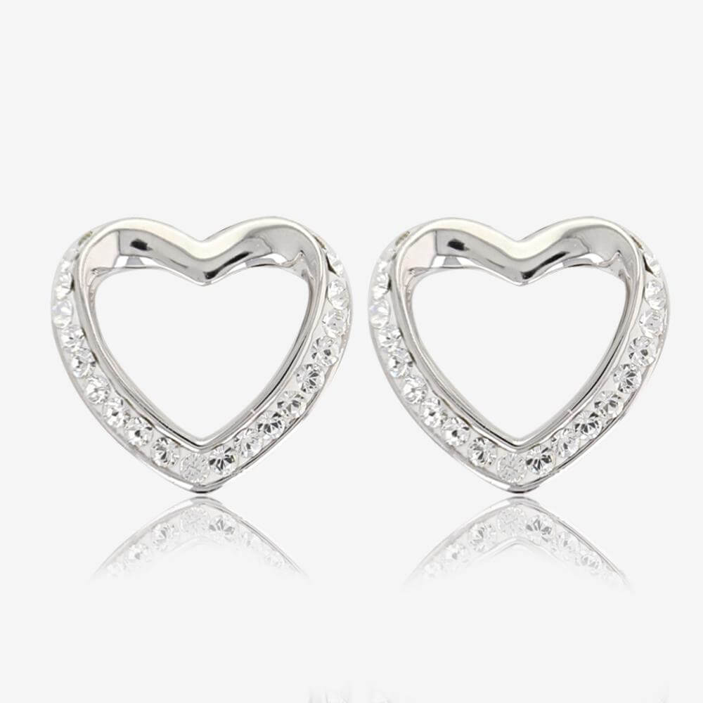 Petra Heart Earrings Made With Swarovski Crystals