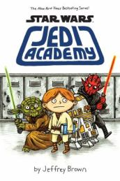 Book cover of Jedi Academy showing several Star War characters