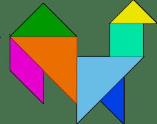 Tangrams in organized shape