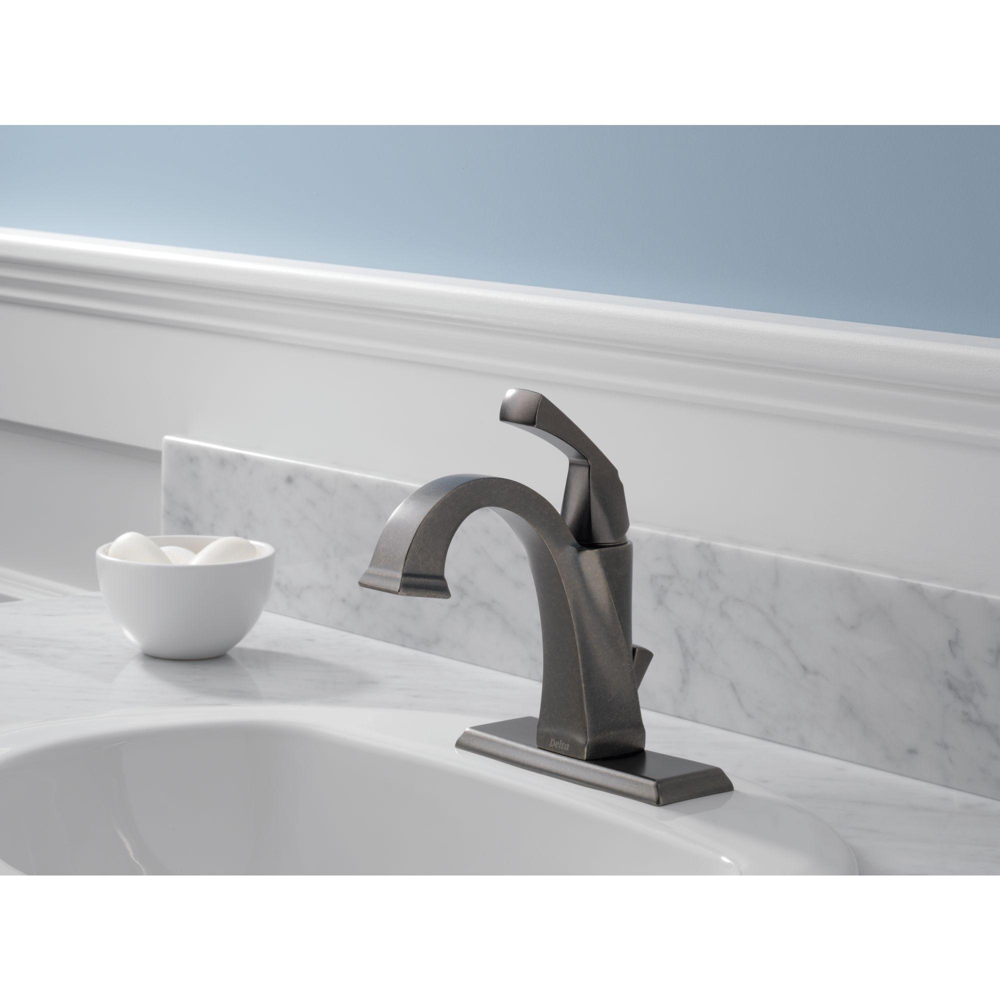 551 ss dst stainless steel delta dryden single handle centerset bathroom faucet w pop up drain