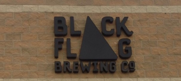 Black Flag logo on entranceway
