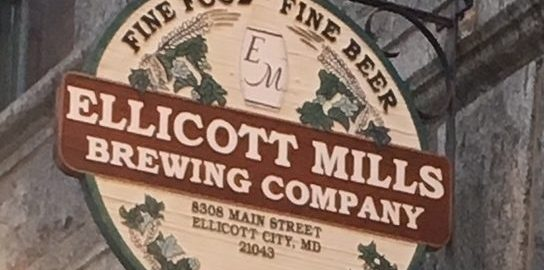 Ellicott Mills Brewing Co sign