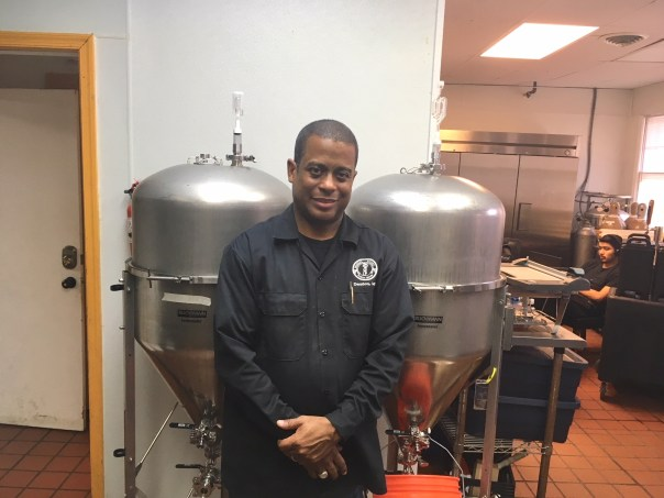 Brian Tyler at his brewery