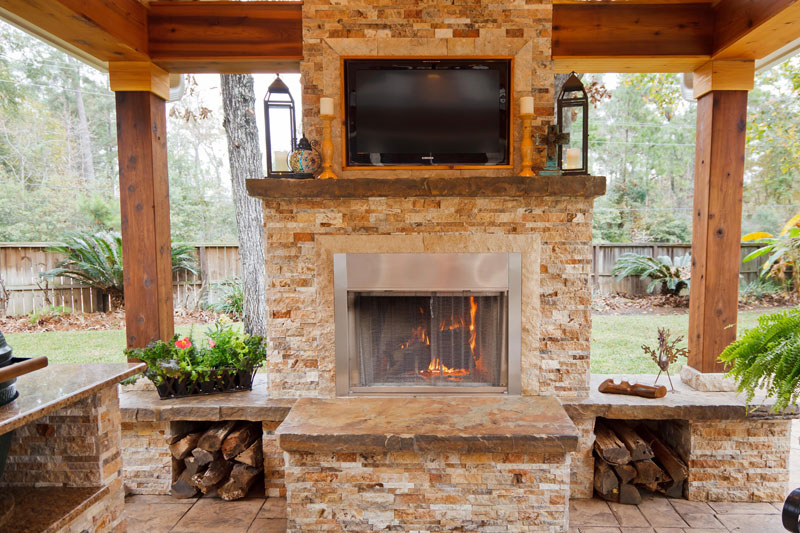 Featured Landscaping Pictures | Outdoor Getaway | Kingwood TX on Warrens Outdoor Living id=54037