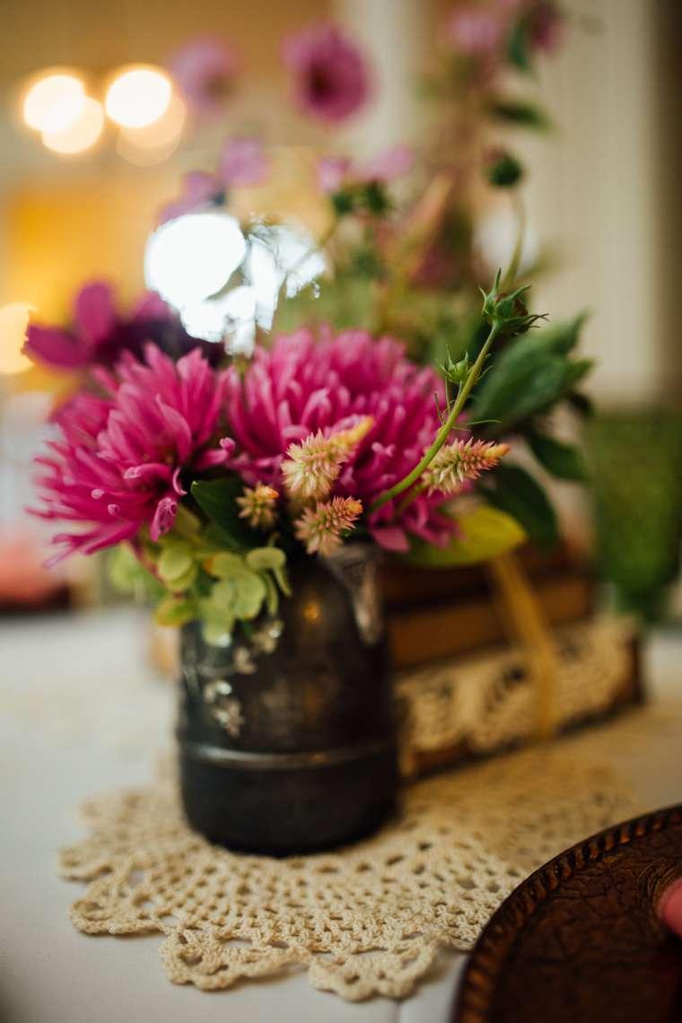 Local in-season flower centerpiece