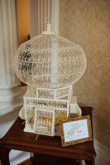Vintage Ivory Birdcage for Wedding Cards