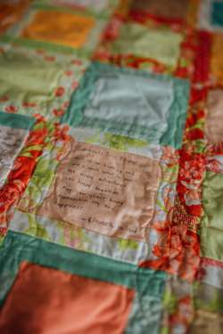 Quilt for guests to sign at wedding
