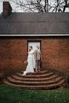 Portrait of Bride & Groom at Central Kentucky Farm Venue