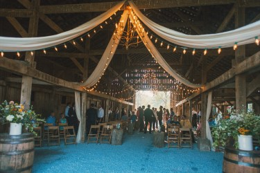 Barn drappings for wedding ceremony