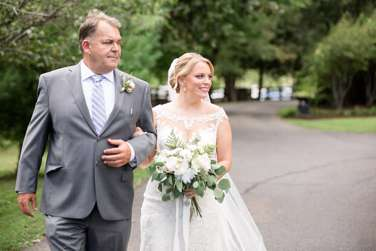Bride & her father walk to timeless southern ceremony