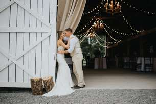 Rustic Country Bride & Groom in Warrenwood Manor barn