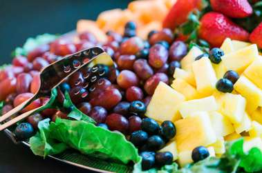 Fruit platter at Open House by Chaplin River Catering