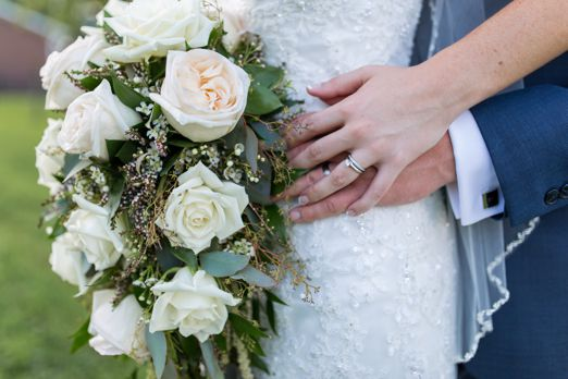 Ivory and blush cascading bridal bouquet
