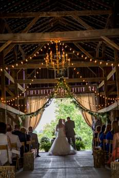 Kentucky Summer Barn wedding ceremony