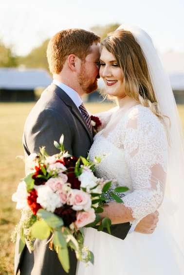 Burgundy and grey fall wedding
