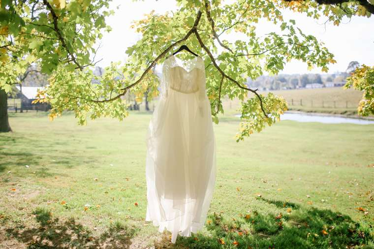 Creative photo of wedding dress