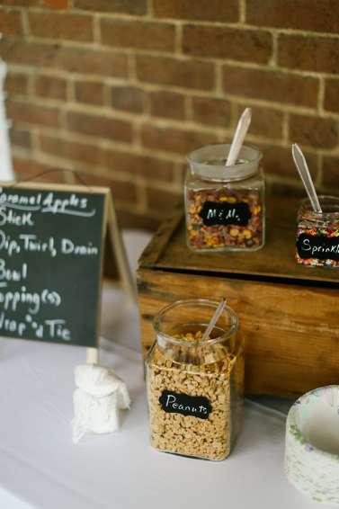 Caramel Apple Station at Fall Wedding