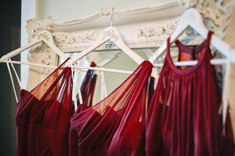 Marsala / Burgundy bridesmaid dresses